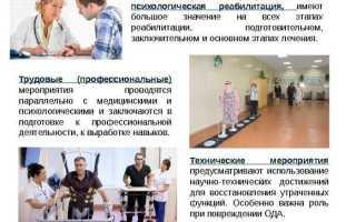 Психологическая и социально-средовая реабилитация инвалидов: перечень мероприятий