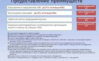 Постановление Правительства 44 ФЗ О преимуществах инвалидов