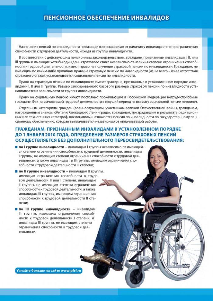 Когда инвалиды выходят на пенсию