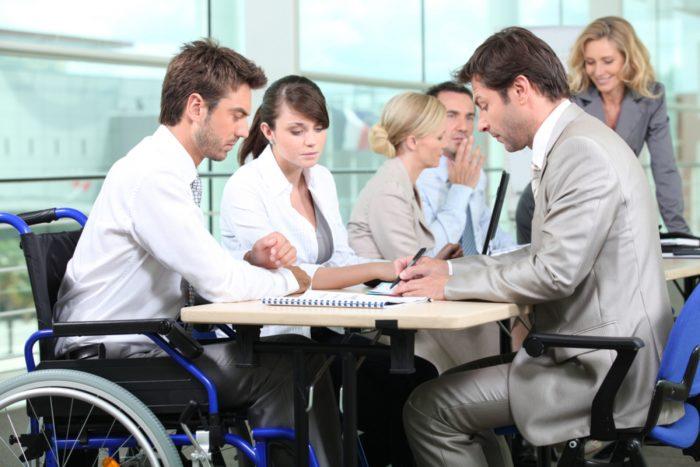 инвалид в банке