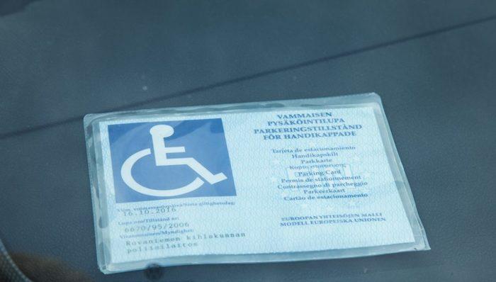 разрешение на парковку для инвалидов